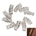10 Pcs Hair Braid Beads Dreadlock Bead Cuff Clip Metal Hair Braid Ring Silver KW