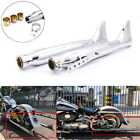 Fishtail Exhaust Silencer Mufflers Pipe For Harley Touring Motorcycle Universal €96.57 EUR on eBay