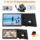 "8""/10""/12"" TFT Digital Photo Frame Bilderrahmen Fotorahmen MP3 MP4 Kalender neu"