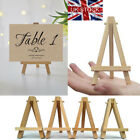 1/10X MINI WOODEN ARTIST EASEL FOR WEDDING  ARTWORK DISPLAY TABLE SETTINGS CRAFT
