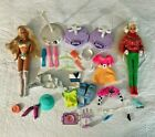 Vintage Barbie Doll Lot With Dolls Stands Clothes and Accessories
