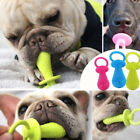 1pc pet chew bell rubber pacifier dog toys bite resistant clean teeth toy OJ