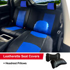 .PU Leather 5 Car Seats Cushion Front & Rear Pillows to Dodge 59255 Bk/Blue $91.86 CAD on eBay