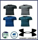 New Under Armour Golf Polo Graphic Decal Grey Black Teal Royal Blue (Fitted)