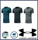 New Under Armour Golf Polo Shoulder Decal Grey Black Teal (Fitted)