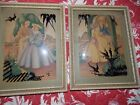 Man and Woman Couple Reverse Painting Bubble Glass Pictures Morris Bendien NY