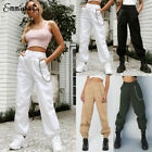 Womens Soild Cargo Trousers Casual Pants Military Army Combat Camouflage Jeans