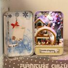 1PCS Handmade Box Secret Hut Ice and Snow DIY Holiday Assembled Decor with Stand