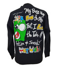 "Vintage 90s Billiards Pool Sweater ""Why Work? Rack 'Em"" Funny Size Large Black"