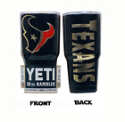 (YETI) Houston Texans (Laser Engraved 30 oz) Powder Coat NO VINYL $54.95 USD on eBay