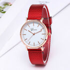 Women Casual Quartz Watch Round Dial Wrist Watches with Mesh Strap 4 Colors