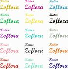 'Zoflora, Mrs Hinch Personalised Vinyl Name Stickers Spray Water Drinks Bottle
