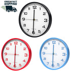Thin classic wall clock 10 inch Silent universal Round Operated Easy to Install