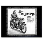 Triumph Motorcycle Vintage Uk Vintage Advertising Retro 12X16 Inch Framed Print $42.49 AUD on eBay