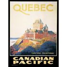 Travel Quebec Canada Canadian Pacific Chateau Frontenac Vintage Framed Art Print