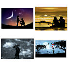 Romantic Love Couple Sunset Canvas Painting Poster Bedroom Wall Home Art Decor