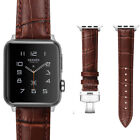 For iWatch Aple Watch Series 4/3/2/1 Genuine Leather Band Strap Replacement