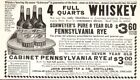 Antique Ad Alcohol Schweyer's Pure 8 Year old Pennslyvania Rye John Schweyer Co
