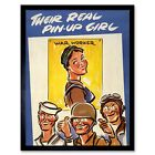 War Wwii Forces Sweetheart Pin-Up Girl Industry Work Women 12X16 Framed Print