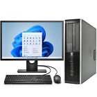 "Hp Desktop Computer Quad Core I5 Windows 10 Pro Pc 16gb 2tb Hd 480gb Ssd 22"" Lcd"