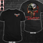 Victory Motorcycle skull so cool - Punisher American flag -  Men's US shirt