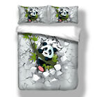 Panda Bedding Duvet Cover Set Twin Full Queen King Size Pillow Case New Animal