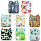 Kyпить Baby Alva Baby Washable Reusable Cloth Diapers Nappies Pocket in Bunch One Size на еВаy.соm
