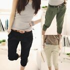 Women Casual Cropped Capris Harem Trousers Pants Fashion Spring Autumn Pants New