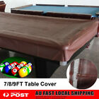 7'  8' 9' ft Foot Pool Snooker Billiard Table Cover Fitted Heavy Duty PU Leather $36.89 AUD on eBay