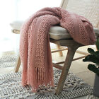 Battilo Solid Knit Throw Blanket Warm & Cozy for Couch Sofa Bed Beach Travel image