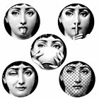 Chinese Home Decor Store 5PCS Wall Stickers Fornasetti Plate Designer Wallpaper Separated Painting Decor Mountain Home Decorating Accessories