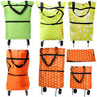 Portable Folding Shopping Trolley Cart Lightweight Foldable Luggage Wheels Bag
