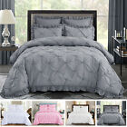 HIG 5 Piece Comforter Set Pinch Pleat Scallop Fringe HANIA Bedding Collection image