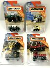 4 Matchbox Construction Vehicles Skidster Acre Maker Unimog Xcavator NEW