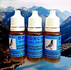 3 x Broncho Nasal Drops 10ml Racing Pigeons Respiratory Mucus Treatment. 'NPR'