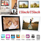 "15""/13"" HD Motion Detection Digital Photo Frame Movie Player Remote Controller"
