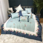 embroidered craft high quality bedding set 4pcs long staple 100% cotton sheet image