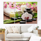 3Pcs Framed Candle Stone Bamboo Canvas Poster Prin