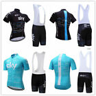 'Sky New Cycling Jersey Mens Road Bike Top Short Sleeve Vest Bicycle Team Suit