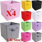 4X Large Foldable Canvas Storage Collapsible Folding Box Fabric Cube Cloth Toys