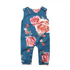 US Baby Girls Flowers Sleeveless Romper Jumpsuit Harem Playsuit Outfits 0-24M