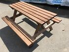 Wooden Picnic Table Bench Pub Garden Outdoor