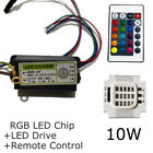 LED Diode RGB Chip+Driver+Remote DIY 10W Dimmer Bead 1 Set Colorful 24 Key COB