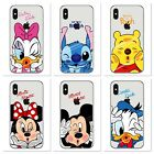 MINNIE Micky & Daisy Duck Clear TPU Soft Case For Apple iPhone XR & XS MIX