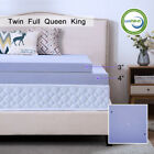 Memory Foam Mattress Topper 2.5/3/4 Inch Gel Ventilated Lavender Queen King Twin image