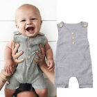 Newborn Baby Girl Boy Sleeveless Overall Romper Jumpsuit Bodysuit Outfit Clothes