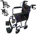 Deluxe Aluminium Folding Wheelchair Self Propelled Lightweight Transit HandBrake