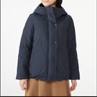 Muji Ladies' Australian Down Water Repellent Hooded Blouson Navy Size Small