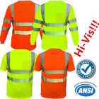 Safety Work Hi Vis T Shirt ANSI Class 3 Long Sleeve High Visibility Reflective