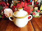CROWN MANOR HANDPAINTED STONEWARE SUGAR BOWL LID MADE IN JAPAN some crazing chip